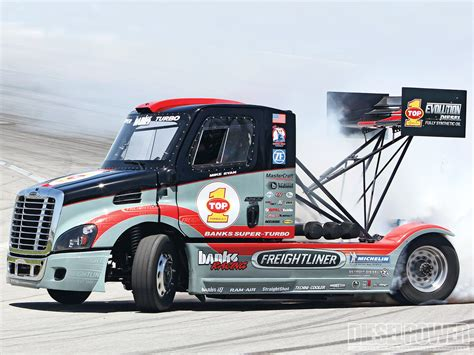 racing truck international freightliner race truck drifting photo 1