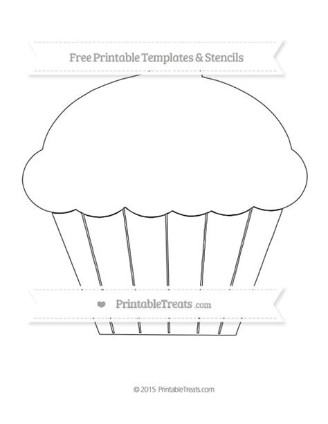 cupcake template to print free printable large cupcake template shapes and