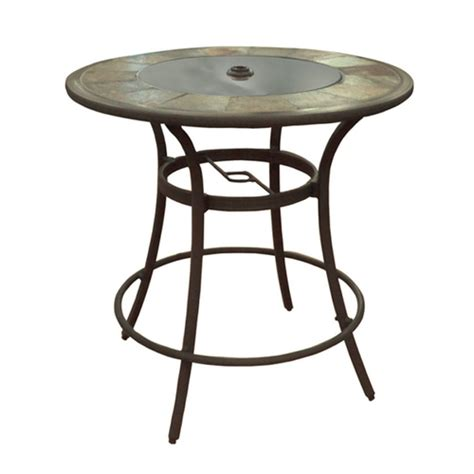 Lowes Pub Table And Stools by Allen Roth Safford Swivel Patio Bar Chairs Table
