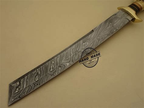 best tanto knife damascus tanto bowie knife custom handmade damascus steel