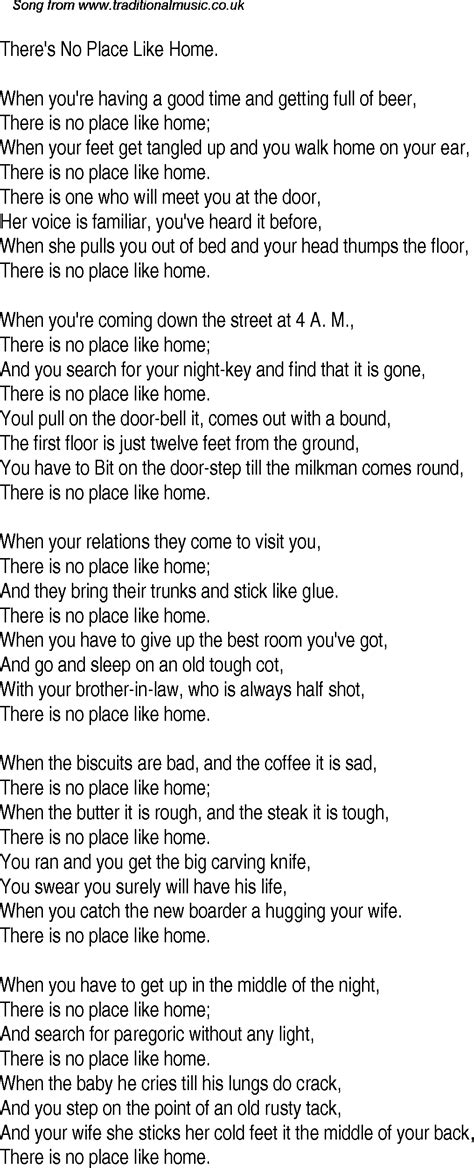 no place like home song