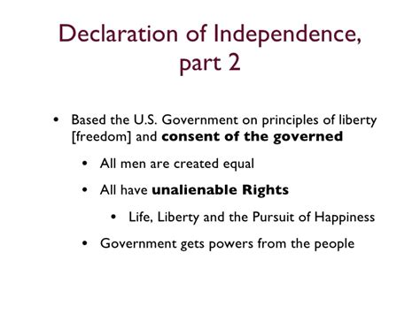 what are the sections of the declaration of independence declaration of independence