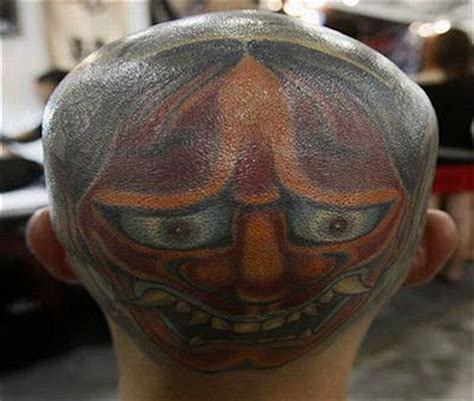shaved head tattoo bald tattoos damn cool pictures