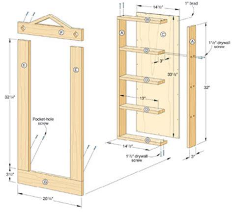build recessed shelves pdf diy recessed bookcase plans retro coffee