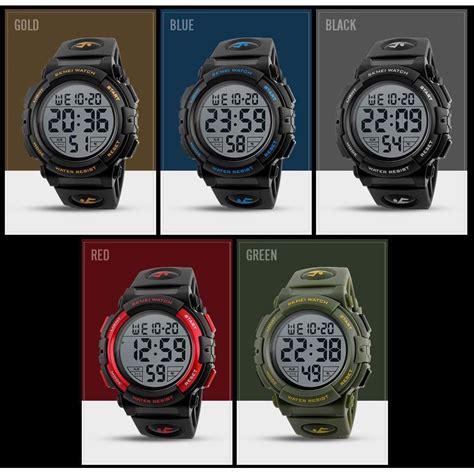 Jam Tangan Skmei Black skmei jam tangan sporty pria dg1258 black