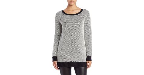 boat neck tunic sweater guess boat neck tunic sweater in black lyst