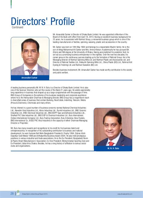 Mba Association Of Chittagong by Dhaka Bank Annual Report 2015