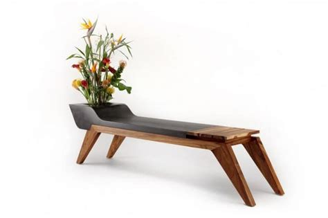 flower pot bench wooden bench combined with a flower pot by jory brigham