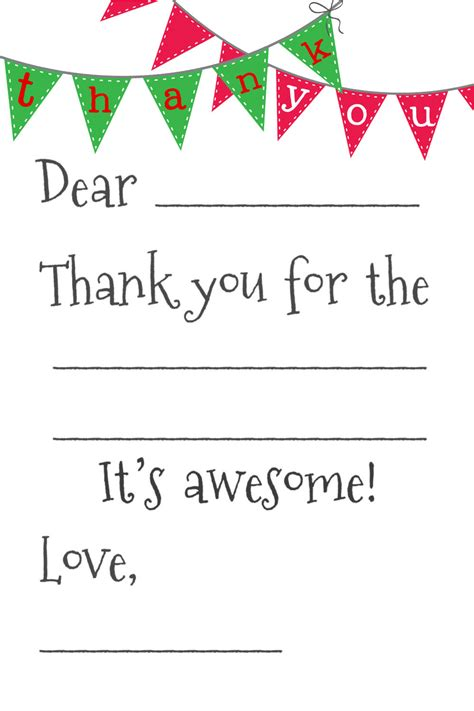 fill in the blanks thank you letter 34 printable thank you cards for all purposes baby