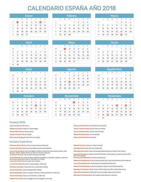calendario 2018 calendario de espana del 2018 wikidates org calendario espa 241 a a 241 o 2018 feriados