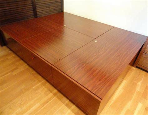 camas cajones debajo vendo cama de matrimonio de madera noble con cajones