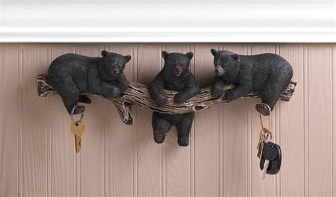 Animal Toilet Paper Holder by Black Bear Wall Hooks Wholesale At Koehler Home Decor