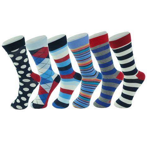 crazy pattern dress socks alpine swiss 6 pack men s cotton dress socks mid calf