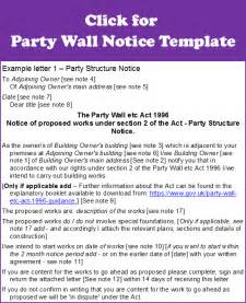Party Wall Agreement Letter Template Party Wall Agreement