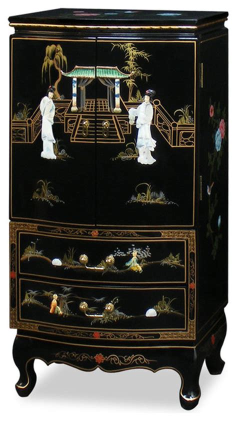 Japanese Jewelry Armoire by Black Lacquer Jewelry Armoire Jewelry Armoires
