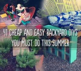 41 cheap amp easy backyard diy projects