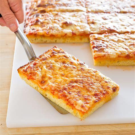 thick crust sicilian style pizza america s test kitchen