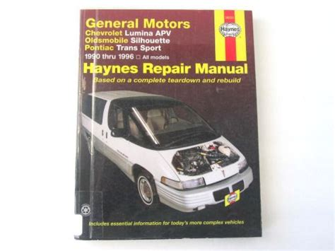 free service manuals online 1990 pontiac trans sport parking system find haynes 38035 gm lumina silhouette trans sport 1990 1996 automotive repair manual motorcycle