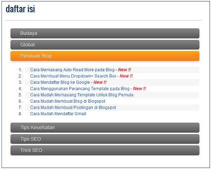 jelaskan langkah langkah membuat daftar isi cara memasang daftar isi otomatis pada blog belajar ngeblog