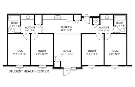 medical center floor plan 31b student health center gordon state college