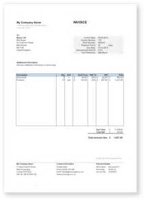 Microsoft Excel Invoice Template Uk by Invoice Template Uk Excel Invoice Exle