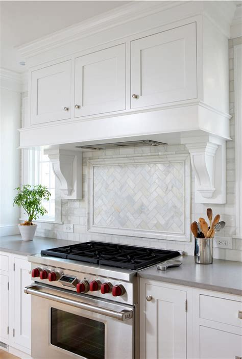 Kitchen Range Backsplash White And Gray Kitchen Home Bunch Interior Design Ideas