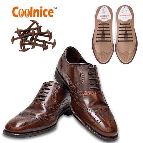 Brown Laces by Oxfords Brogues Spare Elastic No Tie Shoelaces Brown