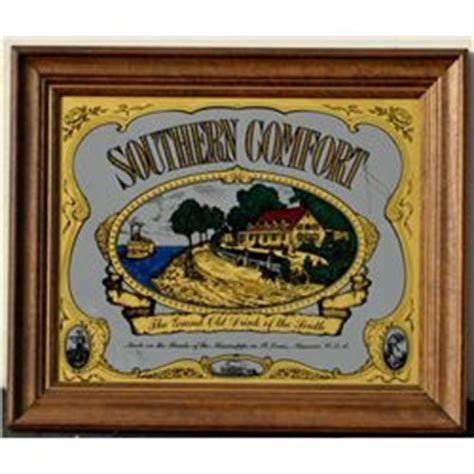 southern comfort mirror framed bar mirror advertising southern comfort approx 21