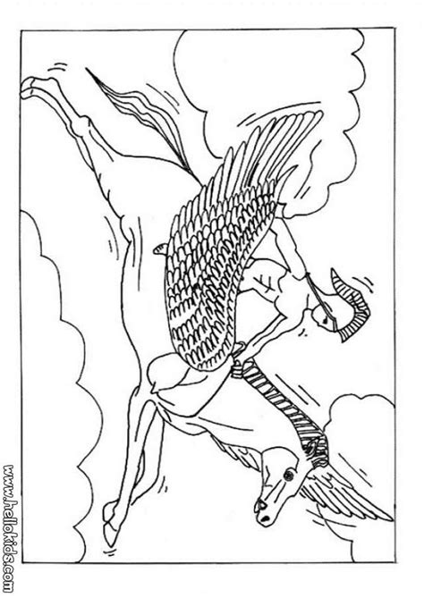 coloring pages of horses with wings pegasus the winged coloring pages hellokids
