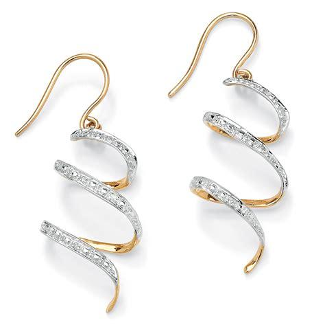 Gold Ribbon Earring palmbeach jewelry accent 10k yellow gold ribbon drop earrings