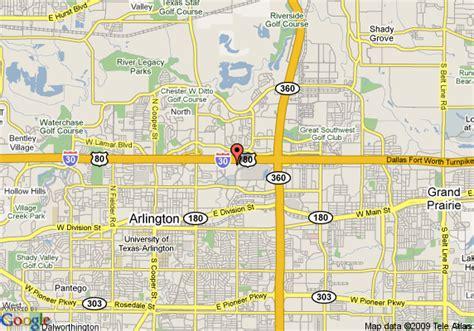where is arlington texas on the map map of sheraton arlington hotel arlington
