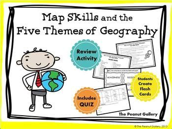 themes of geography quiz map skills and the five the by the peanut gallery