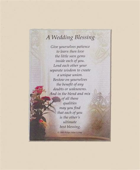 Wedding Blessing Poems Prayers by Occasions Poetry Felipe Adan Lerma