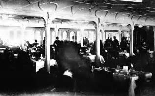 1st class dining room of the rms titanic