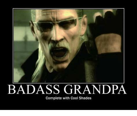 Meme Badass - badass grandpa complete with cool shades shade meme on