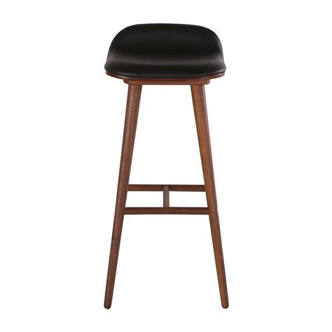 bar stools online life interiors capa leather bar stool walnut black