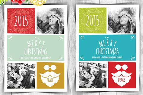 Family Portrait Card Template by 50 Stylish Festive Greetings Card Templates