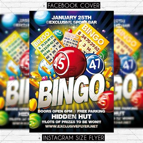 bingo card template psd bingo day premium flyer template exclsiveflyer free