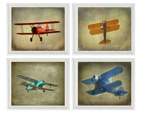 Vintage Airplane Nursery Decor Vintage Airplane Photography Biplane Photo Airplane Nursery