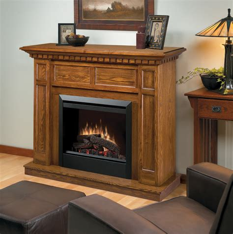 Oak Electric Fireplace by Caprice Oak Electric Fireplace Mantel Package Dfp4743o