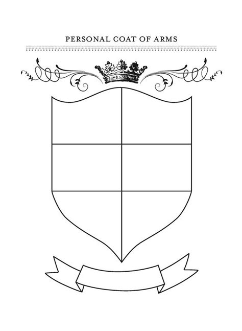 family crest template for free printable coat of arms template homeschool