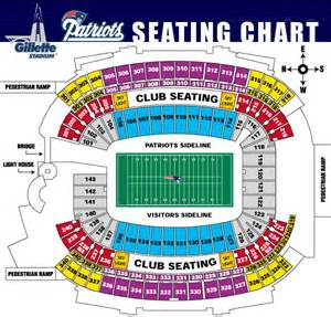 stadium seat map gillette stadium gillette stadium seating chart gillette