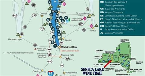 cayuga lake wine trail map cayuga lake wine trail water related lakes