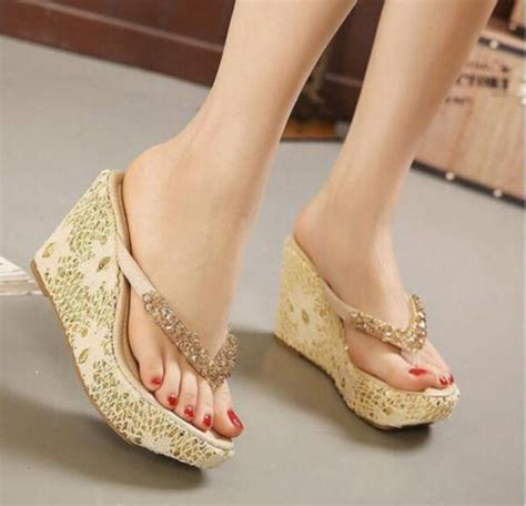 Sepatu Sandal Wanita Wedges Boots s sandals slippers flip flops loafer slingback wedge high heel shoes ebay
