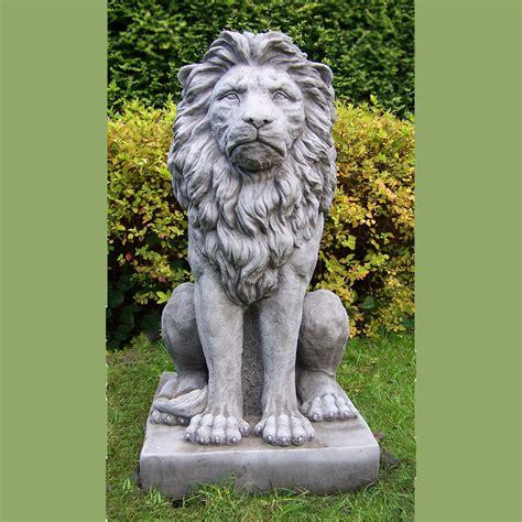 image gallery lion statue home decor large proud lion statue cast stone garden ornament patio