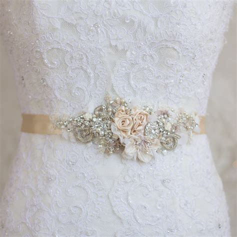 Wedding Dress Belts by Chagne Belt Sash Floral Belt Sash Lace Belt Sash