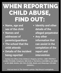 infographic how to report child abuse in jamaica