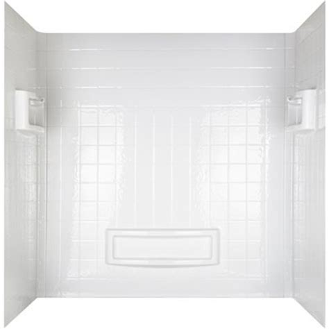 mirolin 31 in x 60 in white acrylic shower wall surround