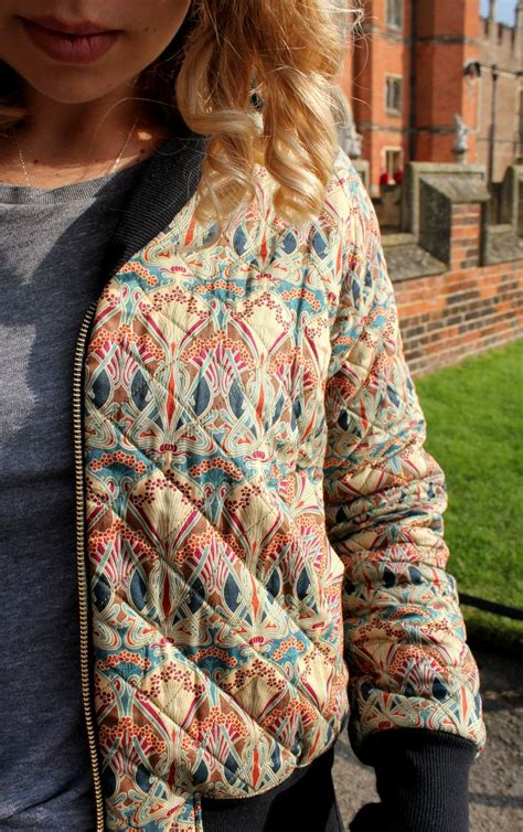 sewing pattern quilted jacket rigel bomber jacket quilted liberty print sewing