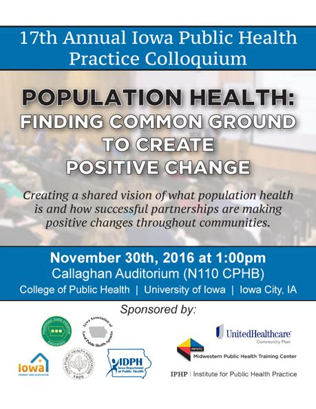 public health training center 17th annual iowa public health practice colloquium